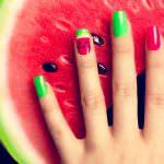 watermeloen, de eetlijn